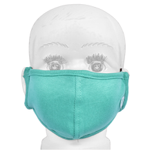 Load image into Gallery viewer, Standard Masks for Kids (2-4 Years)- Teal Green