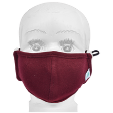 Load image into Gallery viewer, Standard Masks for Kids (2-4 Years)- Maroon