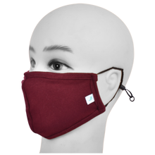 Load image into Gallery viewer, Standard Masks for Kids (5-12 Years)- Maroon