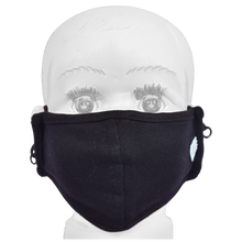 Load image into Gallery viewer, Gubbacci Standard Masks for Kids (2-4 Years)- Black