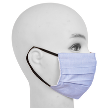 Load image into Gallery viewer, Gubbacci Premium Pleated Flat Mask For Kids (Age 5-12 Yrs) Blue