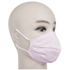 Gubbacci Premium Pleated Shaped Mask for Kids (Age 5-12 Years) Pink