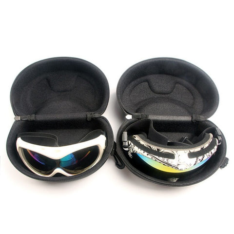 Glasses Case Snow Ski Eyewear Case Zipper Sunglasses Glasses Hard Cases Protector Bags Box Holder With Hook