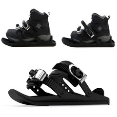 1 Pair Mini Ski Skates For Snow The Short Skiboard Snowblades High Quality Adjustable Bindings Portable Skiing Shoes