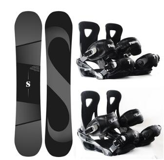 NEW High quality snowboard veneer equipment set men and women all-round flat flower solid color matte black sintered board
