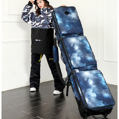 152/ 160/ 165/ 175cm SnowBoard Bag With Wheels /quality thick material big capacity holing 2 pairs of Skis / 1 Snow Board a5336