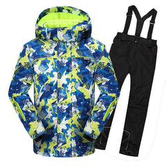 2019 Boys Ski Suits Jacket Overalls Winter Kids Skiing Sets Outdoor Snowboard Children Outfits Sports Windproof Snow Sets