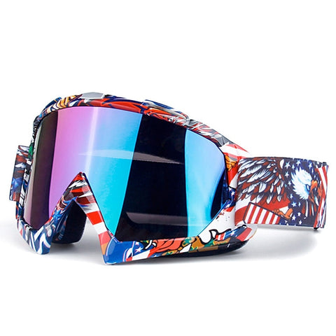 Ski Men and Women Anti-Fog Winter Glasses Goggles Anti-UV Skis Snow Outdoor Riding Off-Road Helmet Mask Goggles Windproof Ski Go