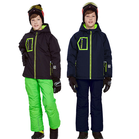 Boys Skiing Suits Winter Windproof Jackets overalls Kids Sport Sets Waterproof Outdoor Warm Children snow clothing outfits