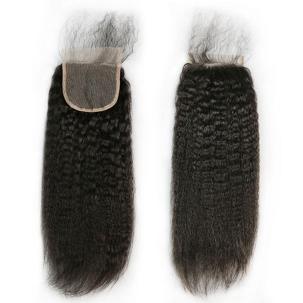 4 x 4 Lace Top Closure Kinky Straight