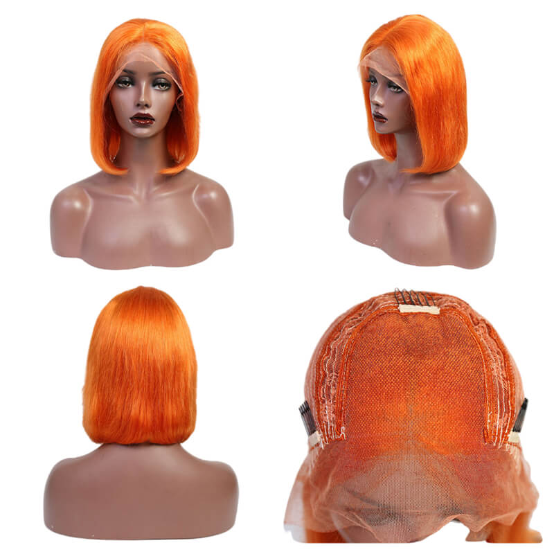 lace frontal colored bob wig