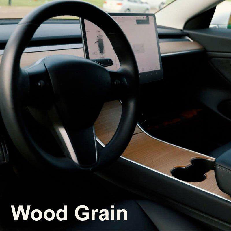 Wood Grain Center Console | Tesla Accessories | TESBROS