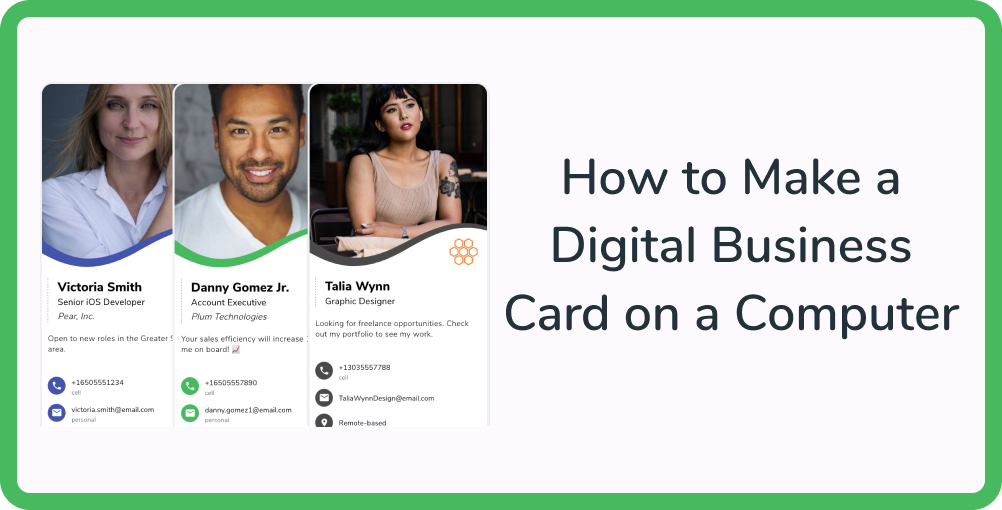 How to Make a Digital Business Card on a Computer