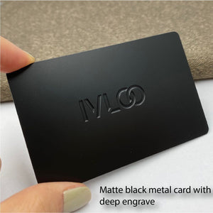 Black Metal Card