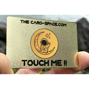 """You've Been Noticed"" Gold NFC Metal Contact Card"