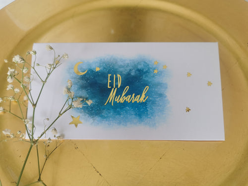 Eidi Envelopes: Crescent & Stars in Gold Foil