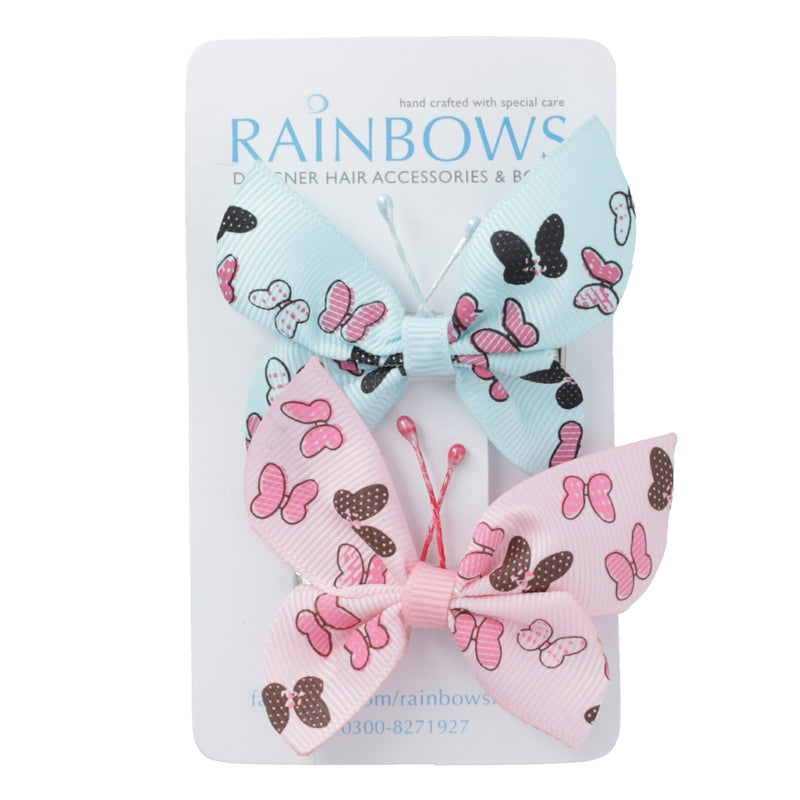 Blue & Pink Butterfly Bows