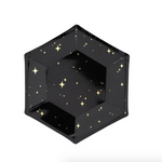 Black & Gold Starry Sky Plates