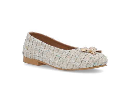 Ivory Butterfly Tweed Pumps