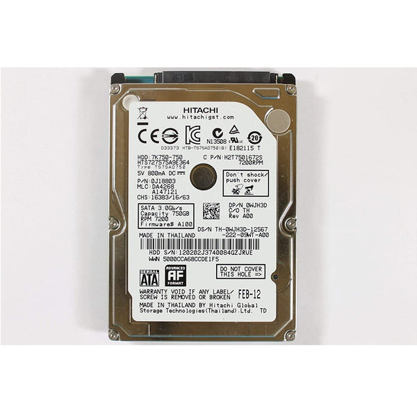 Hard Disk for Laptop 750GB  SATA / New