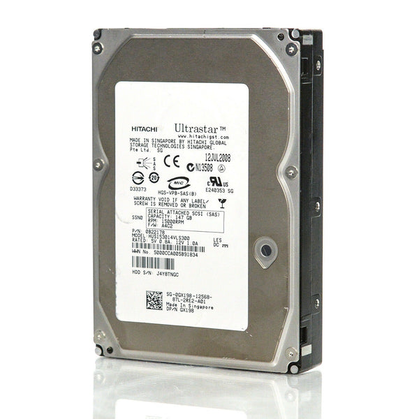 HP Hard Disk Internal 15000RPM Rotation Speed 147GB SAS / Used