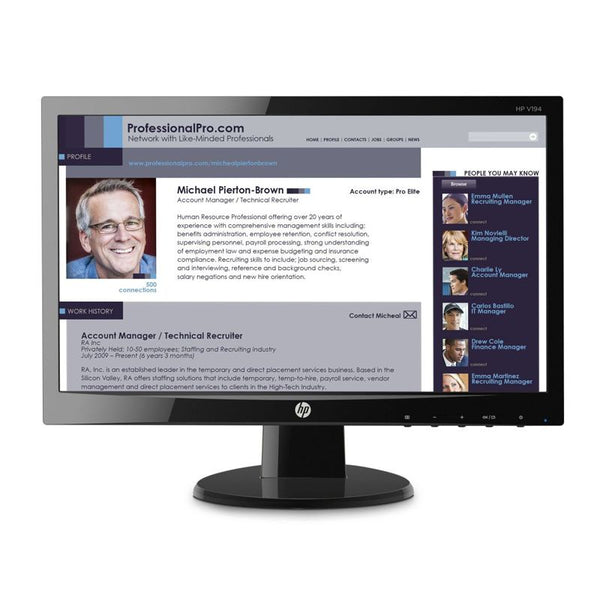 "HP V194 - 18.5"" LED / 5ms / D-Sub - Monitor / New"