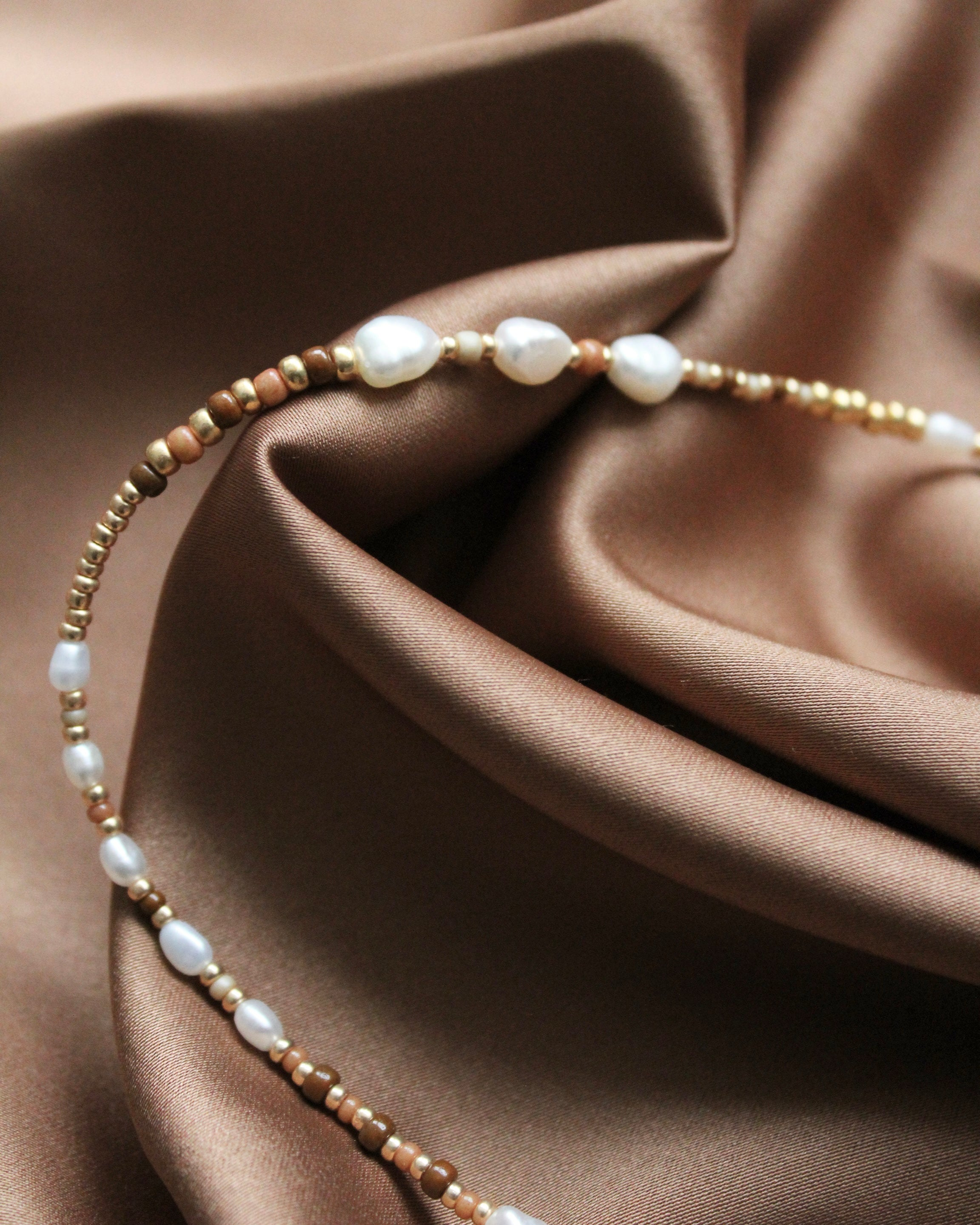 Caramel Pearl Necklace N•4