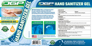 DGP Advanced Hand Sanitizer Gel Case of 32 oz Bottles - DGP High Performance