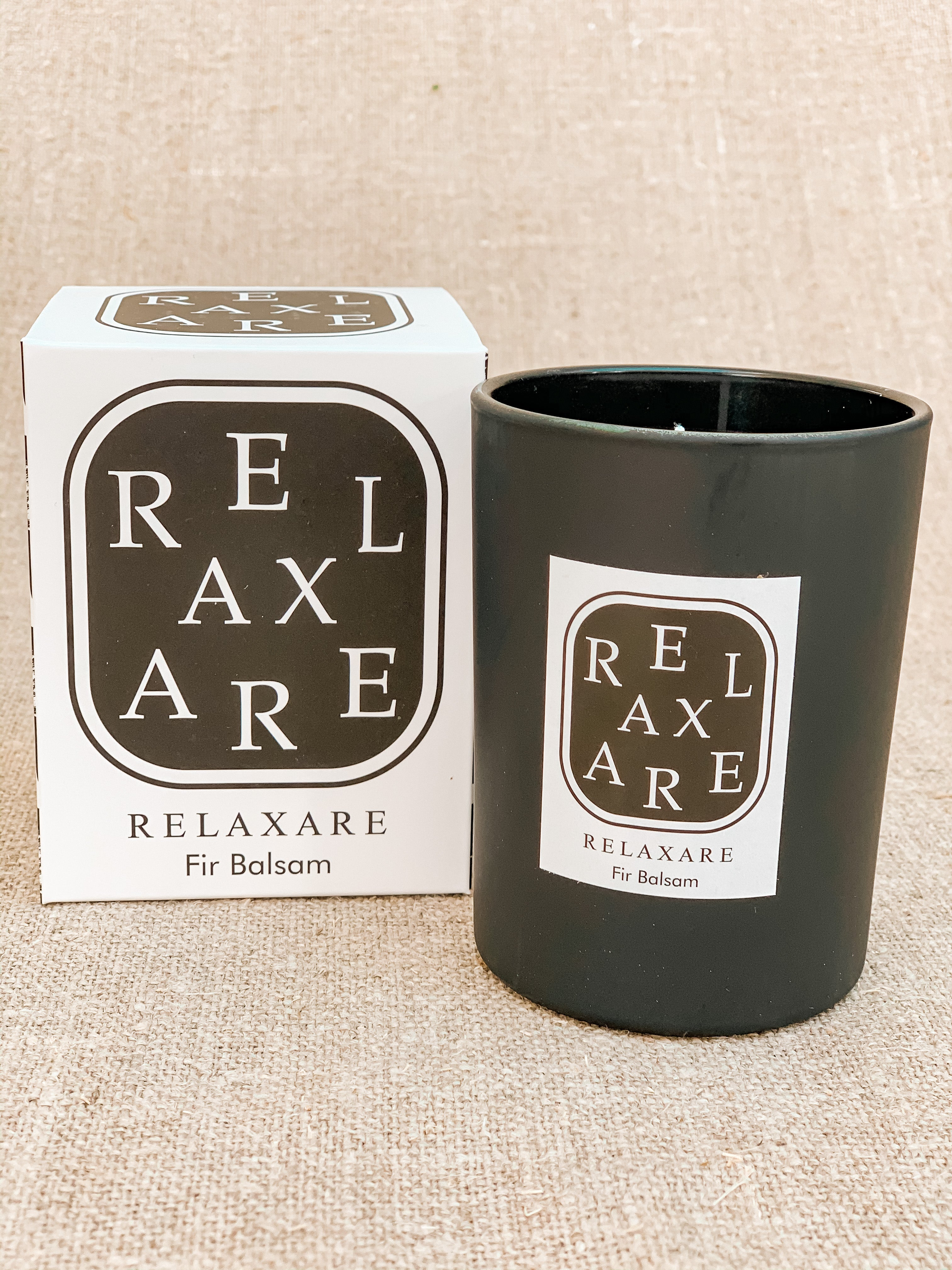 Relaxare Fir Balsam Black Candle