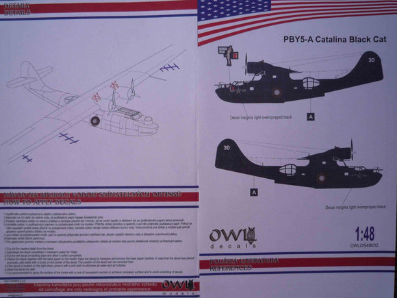 OWLDS48032 OWL 1/48 PBY5-A Catalina Black Cat