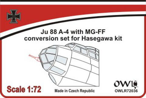 OWLR72036 OWL 1/72 Junkers Ju-88A with MG-FF cannon (designed to be used with Hasegawa kits)
