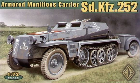 ACE72238 Ace 1/72 German Sd.Kfz.252 armoured munitions carrier. Please note, this kit has VINYL tracks