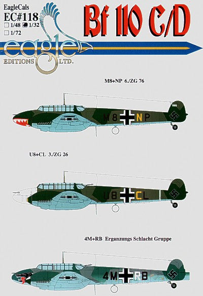 EAG32118 Eagle Cal 1/32 Messerschmitt Bf-110C/Bf-110D Part 2 (3)