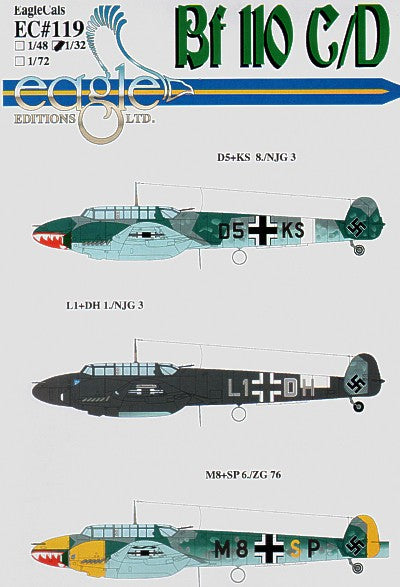 EAG32119 Eagle Cal 1/32 Messerschmitt Bf-110C/Bf-110D Part 3 (3)