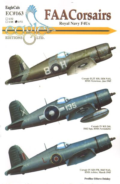 EAG72163 Eagle Cal 1/72 FAA Vought Corsairs