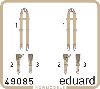 ED49085 Eduard 1/48 seatbelts Luftwaffe WWII bombers SUPERFABRIC
