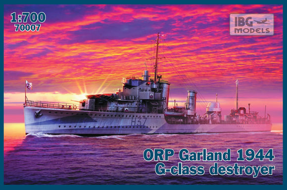 IBG70007 IBG Models  1/700 ORP (ex HMS) Garland 1944 G-class Destroyer