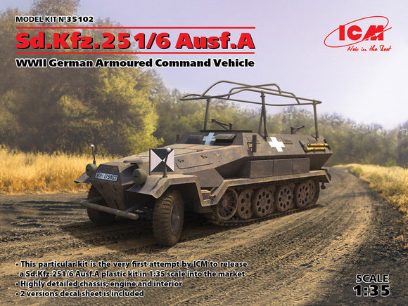 ICM35102 ICM 1/35 Sd.Kfz.251/6 Ausf.A WWII German Armoured Command Vehicle