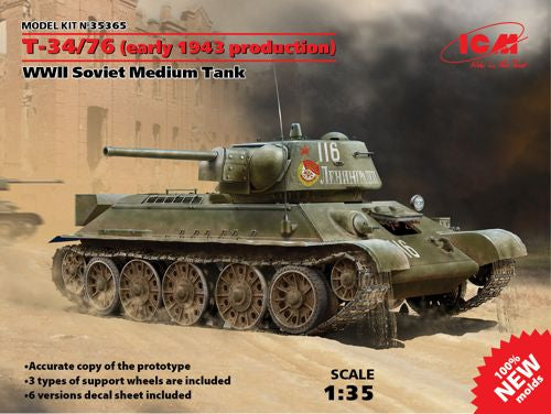ICM35365 ICM 1/35 Soviet T-34/76 (early 1943 production)