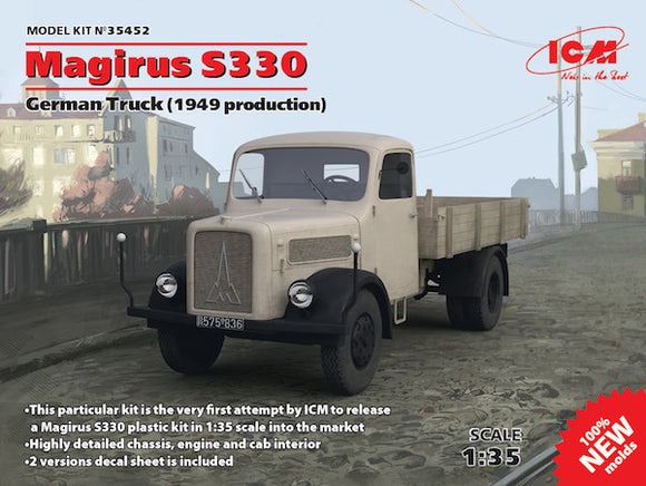 ICM35452 ICM 1/35 Magirus S330 German Truck (1949 production) (100% new moulds)