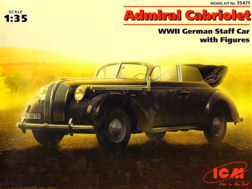 ICM35471 ICM 1/35 Admiral Cabriolet WWII German Staff Car with Figures