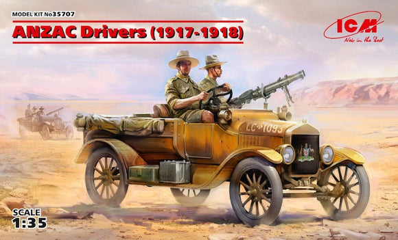 ICM35707 ICM 1/35 ANZAC Drivers (1917-1918) (2 figures) (100% new moulds) (Vehicle not included)