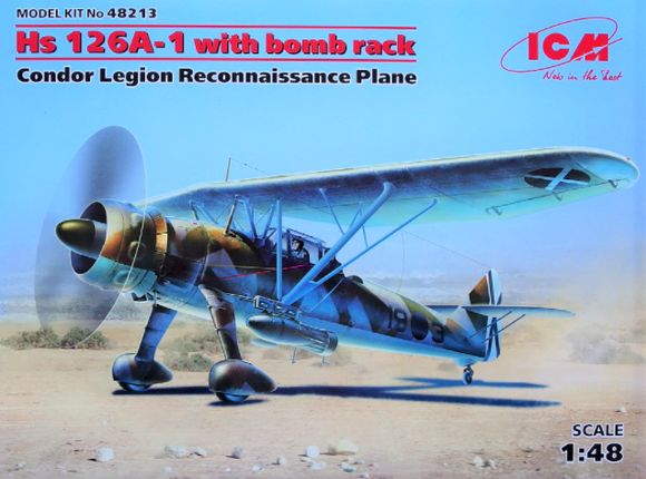 ICM48213 ICM Hs126A-1 With bomb rack (Condor Legion)