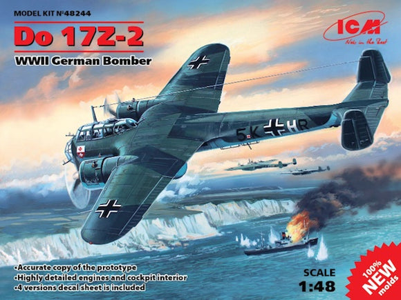 ICM48244 ICM 1/48 Dornier Do-17Z-2 WWII German Bomber