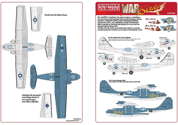 KW148159 Kits-World 1/48 Consolidated OA-10A/PBY-5 Catalina