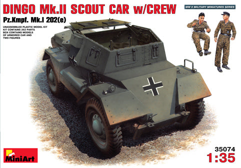 MT35074 Mini Art 1/35 Daimler Dingo Mk.II captured scout car with 2 German crew figures