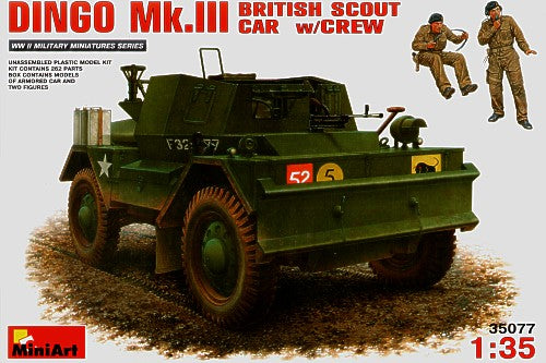 MT35077 Mini Art 1/35 Daimler Dingo Mk.III British Scout Car with crew