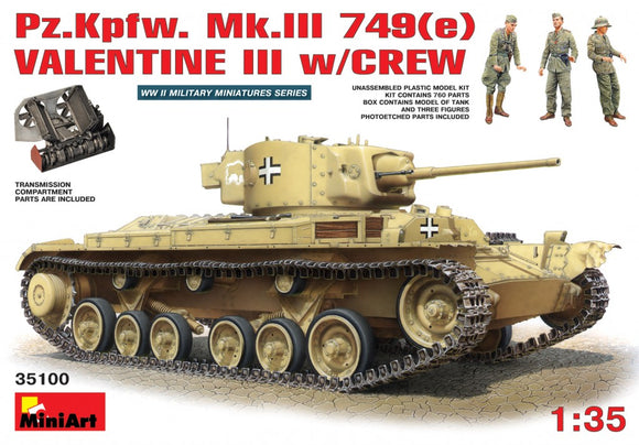 MT35100 Mini Art 1/35 Pz.Kpjw. MkIII 749(e) Valentine III with crew