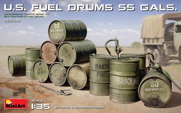 MT35592 Mini Art 1/35 U.S. 55 Gallon fuel drums