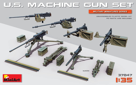 MT37047 Mini Art 1/35 U.S. Machine gun set with etched parts